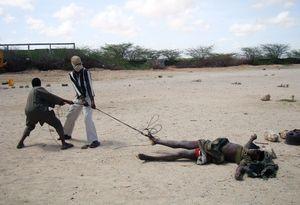 ugandan soldier dragged