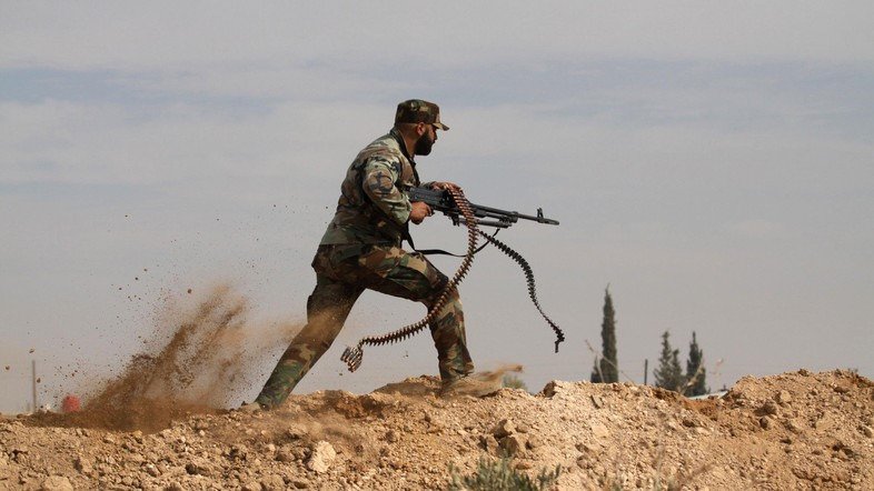 Hezbollah Fighter in Syria