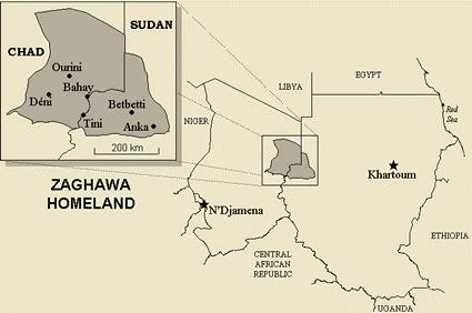 Zaghawa Map