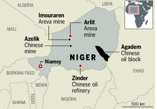 Niger energy map