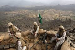 Saudi troops on Y border