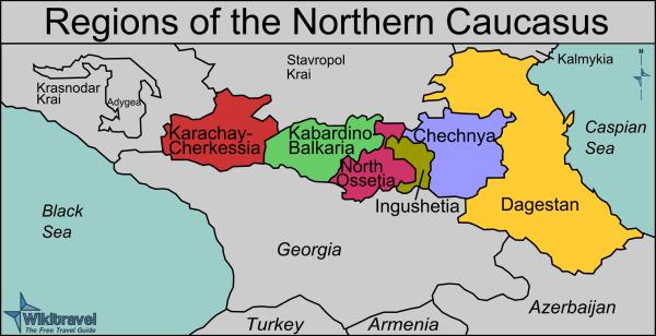 North Caucasus Map 1