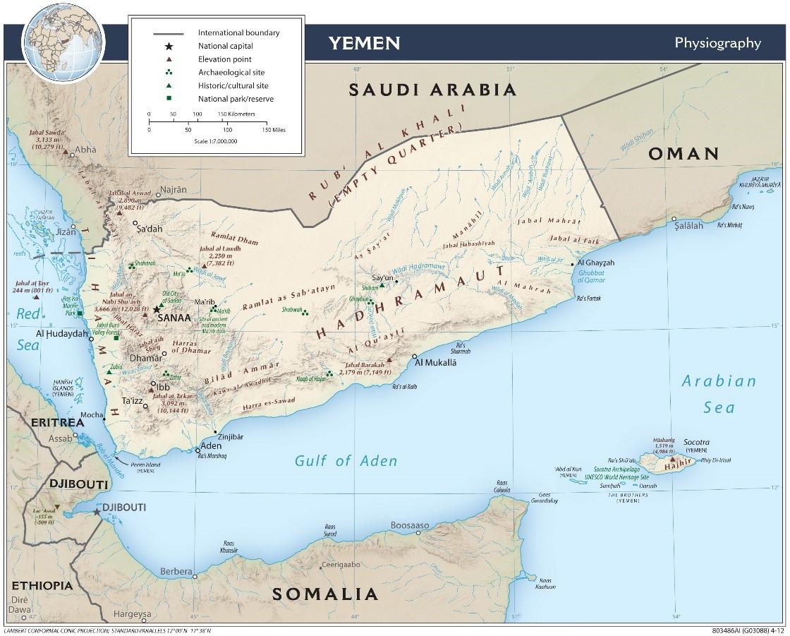 Yemen Map 2